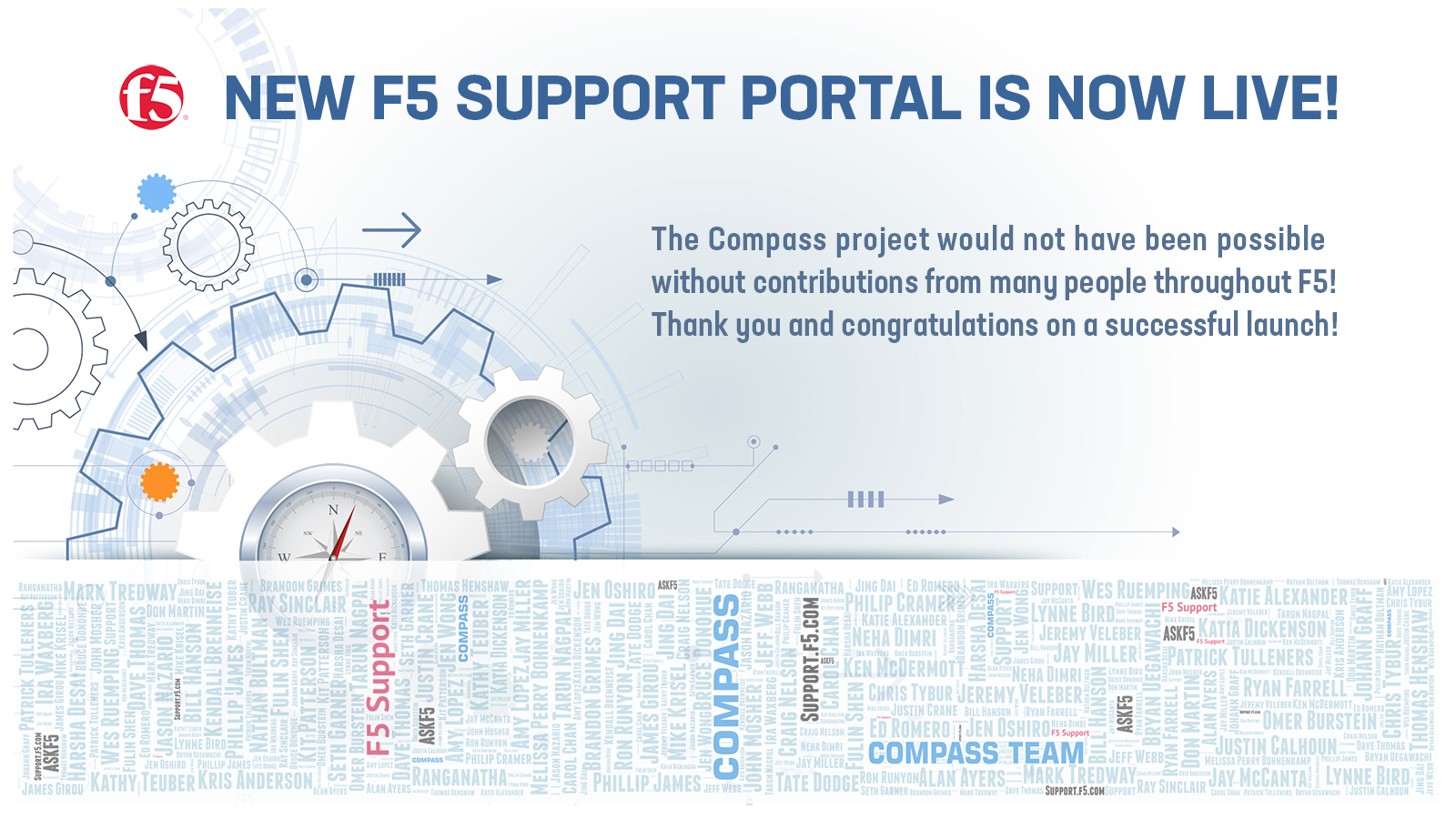 F5 Support Portal launched! Slide for F5 Global TV