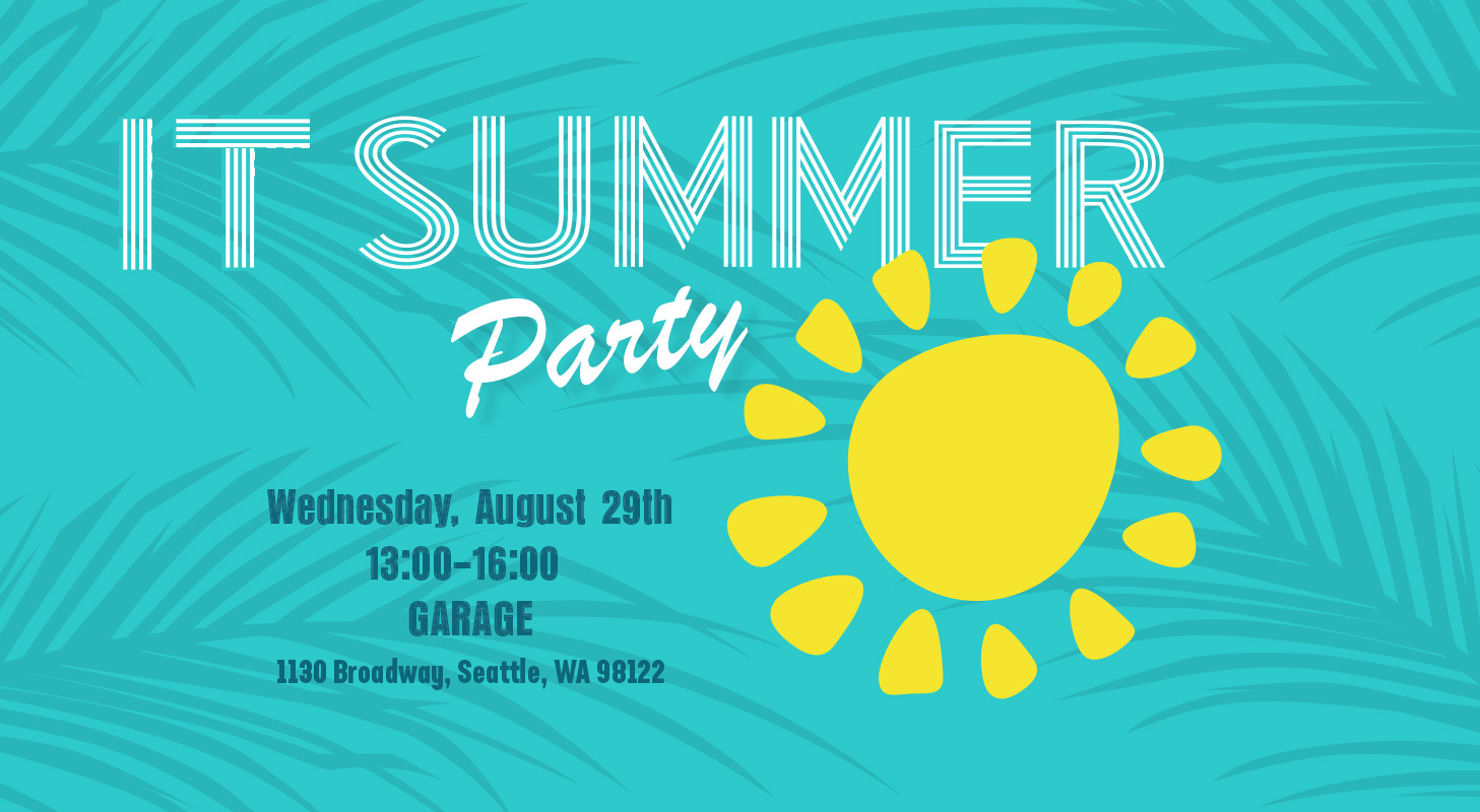 IT Summer Party 2018. Slide for IT TV.
