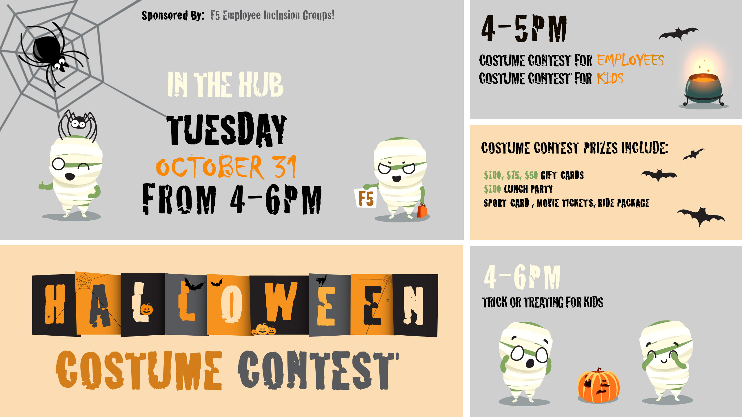 Halloween Costume Contest. Slide for Seattle offices TV channels